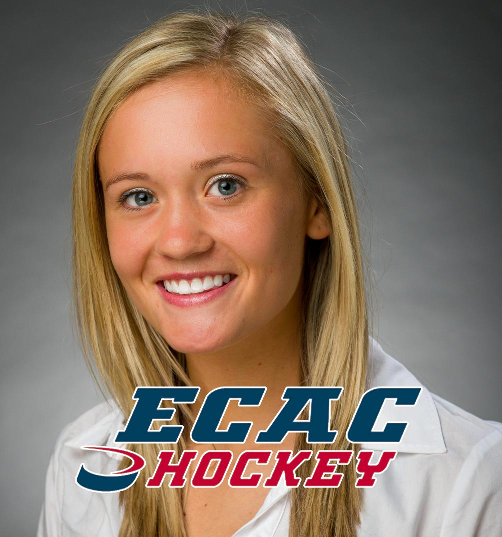 No 5 Qu Women S Ice Hockey S Chelsea Laden Honored As Ecac Hockey Women S Goaltender Of The Month Quinnipiac University Athletics