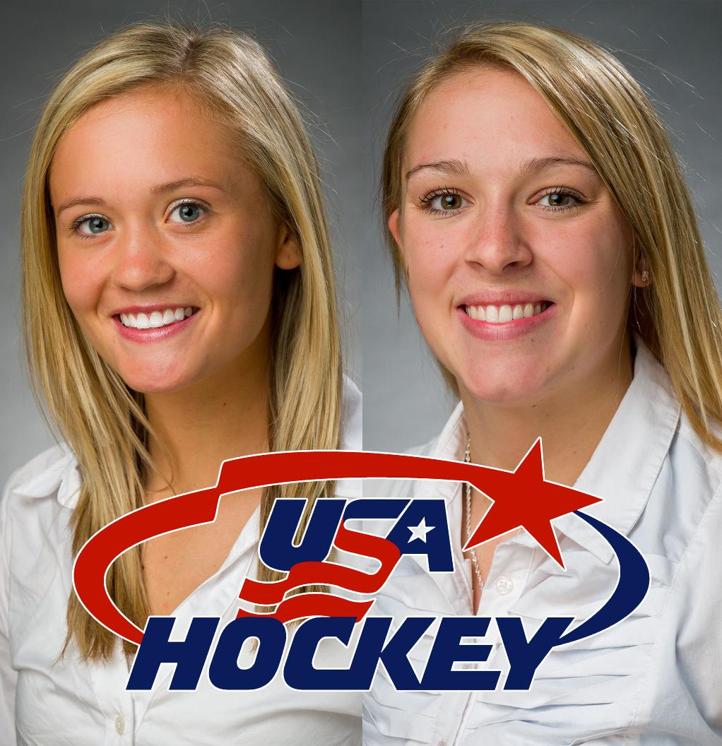 No 5 5 Qu Women S Ice Hockey Seniors Chelsea Laden And Shiann Darkangelo Invited To Usa Hockey Women S Winter Training Camp Quinnipiac University Athletics